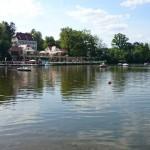 Blick auf das Teichhaus Bad Nauheim